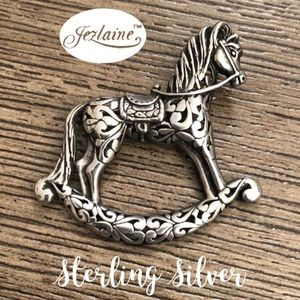Jezlaine Sterling Silver Filigree Rocking Horse